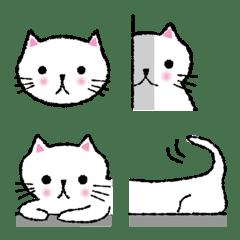 手描きほんわか白猫(かわいい系)