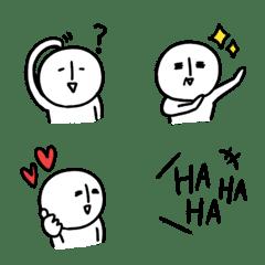 白くて丸くてゆるい人絵文字(1)