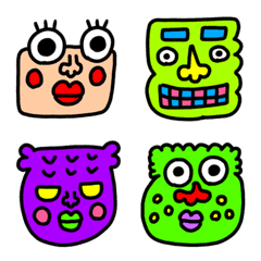 riekimの面白い顔の絵文字