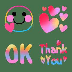 激可愛い♥️レインボー虹色スマイル絵文字
