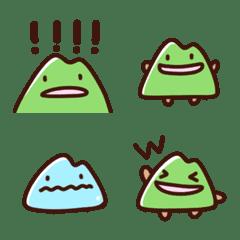 新緑の山絵文字