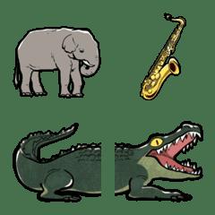 生き物シュール絵文字(楽器も)