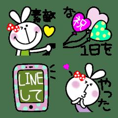おしゃかわドット絵文字とうさぎちゃん4
