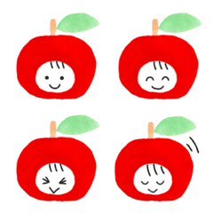 かわいいりんごさんの絵文字