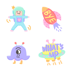 Colorful Space Travel Emojis