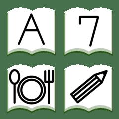本を開いて アルファベット数字記号 144