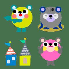 ポップ&キュート北欧風(ver11)クマ