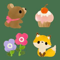 森の動物たちのパーティー絵文字