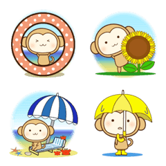 おさるの夏(絵文字)