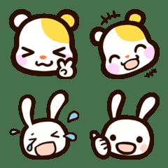 【基本】ハムスターとウサギの絵文字