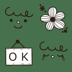 かわいい文末♦北欧風モノトーン絵文字