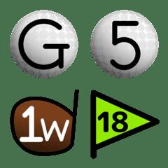 ゴルフボールアルファベット数字記号144個