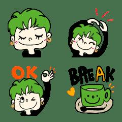 ショートヘアの女の子☆グリーンの色彩