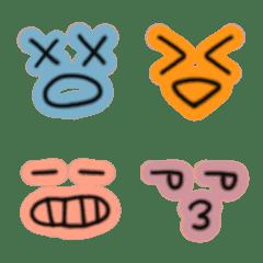 シンプルなネオンの表情絵文字