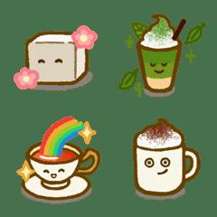 角砂糖さんとカフェメニュー・絵文字
