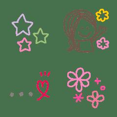 シンプルカラフル絵文字