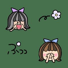 使いやすい!女の子の表情絵文字