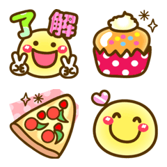 ❤食べ物とお菓子❤にこまる写真に絵文字⑦