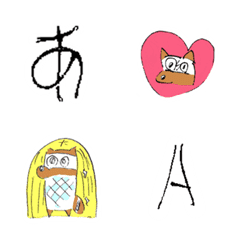 可愛いタヌキ【絵文字とデコ文字】