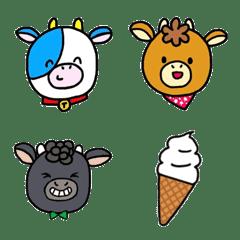 ぎゅう3兄弟と仲間たち(可愛い牛、牧場)