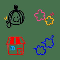 大人女子のシンプル絵文字