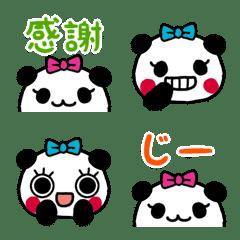 丸顔リボンパンダの絵文字