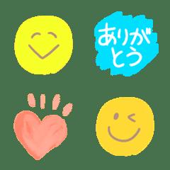 大人可愛い♥️水彩で日常絵文字