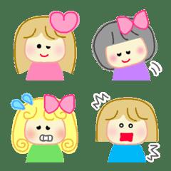 かわいい女の子たち♡絵文字