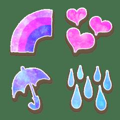 ゆめかわ♥️梅雨の宇宙柄フレーム♥️