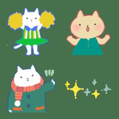 おしゃれ猫のカラフル絵文字