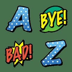 アメコミ テイスト アルファベット 絵文字2