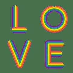 英語のアルファベットの虹