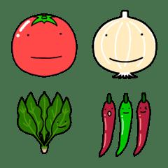 ゆるくて可愛い野菜ときのこの日常絵文字