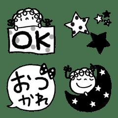 モノクロ★くるリボン絵文字