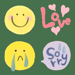 水彩絵の具の絵文字