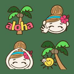 ハワイアンガールおちゃめの絵文字1