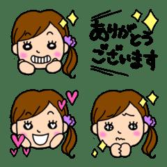 女の子の絵文字♡敬語