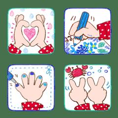 rainy hand