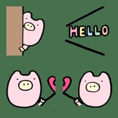 パステル★ぶたのブービー絵文字