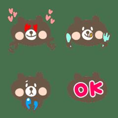くま吉ちゃん☆ ~使える絵文字~