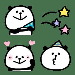 パンダの使いやすい絵文字(お祝い)