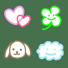 シンプル絵文字☆色んな動物編