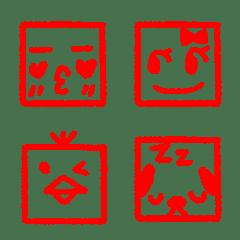 ♥ハンコ絵文字⑨♥顔