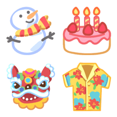 All Year Round Celebrations Emoji