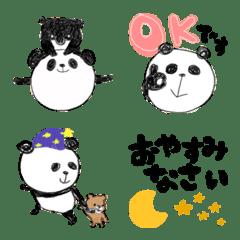 【絵文字】ゆるっと敬語らくがきパンダ
