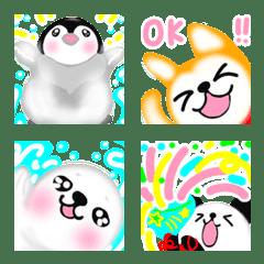 可愛いペンギンと動物 日常とお祝い集5