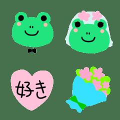 カエルの結婚♥️絵文字