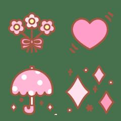 ピンク好きのための絵文字
