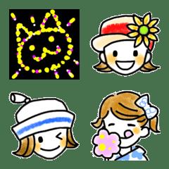 双子の毎日☆夏☆絵文字