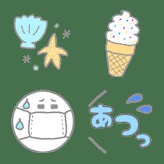 【夏】シンプル♡カラフル絵文字